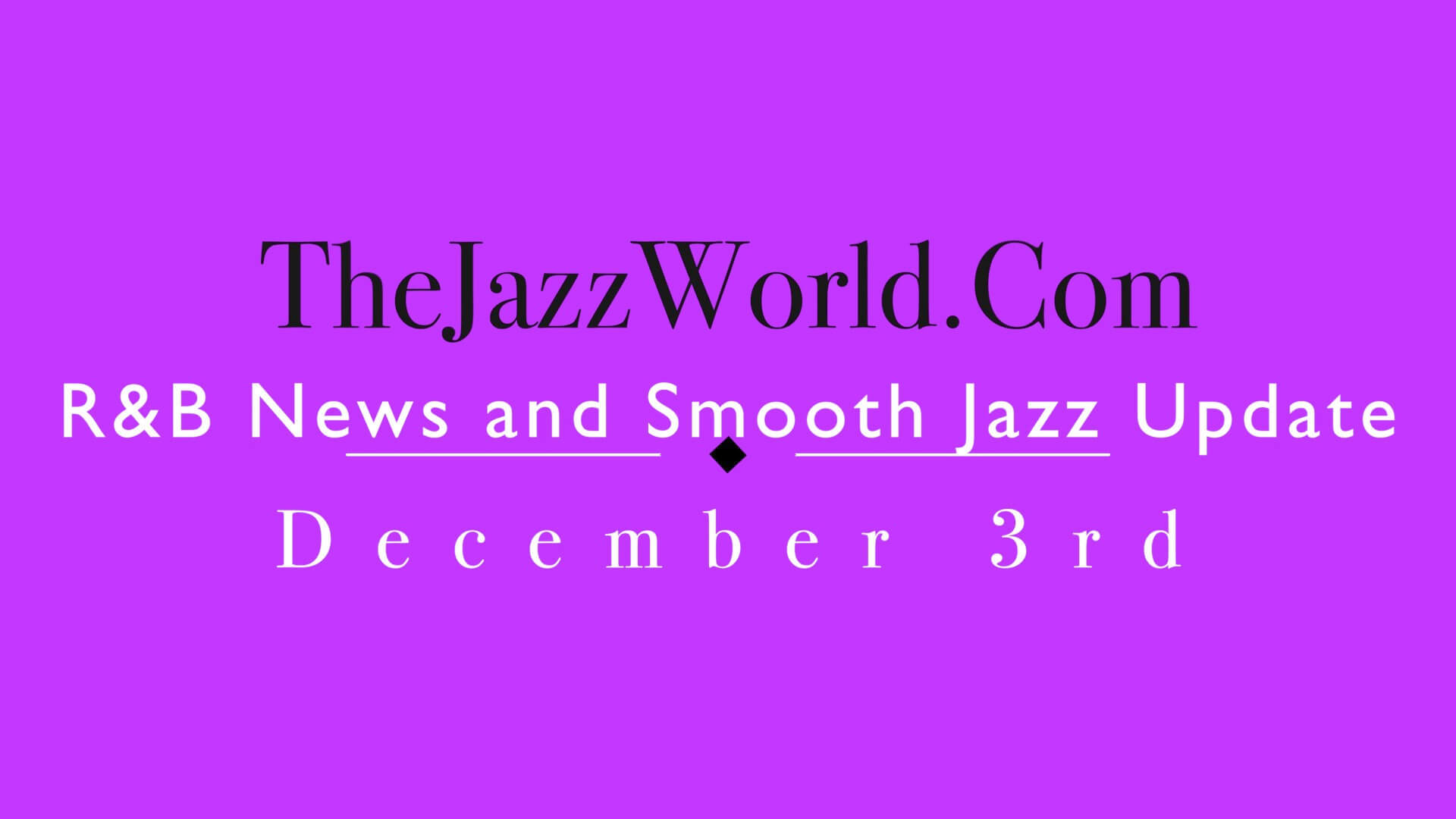 The Jazz World Show 12:3