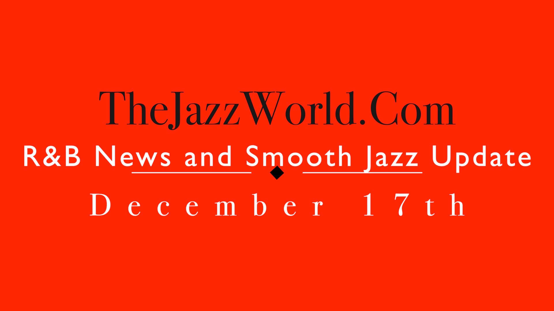 The Jazz World Show 12:17