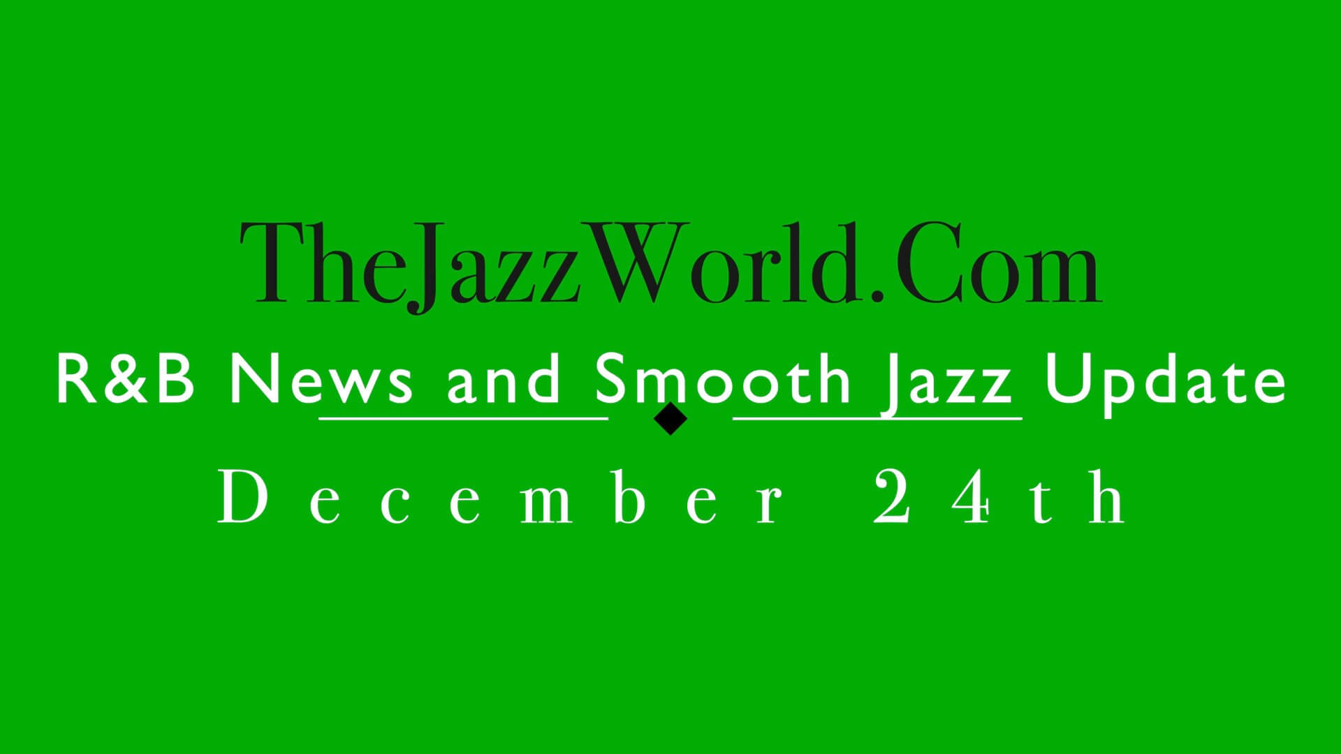 The Jazz World Show 12:24