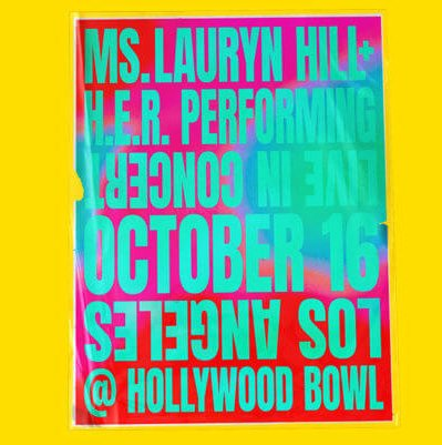 Lauryn Hill and H.E.R. Announce show at the Hollywood Bowl