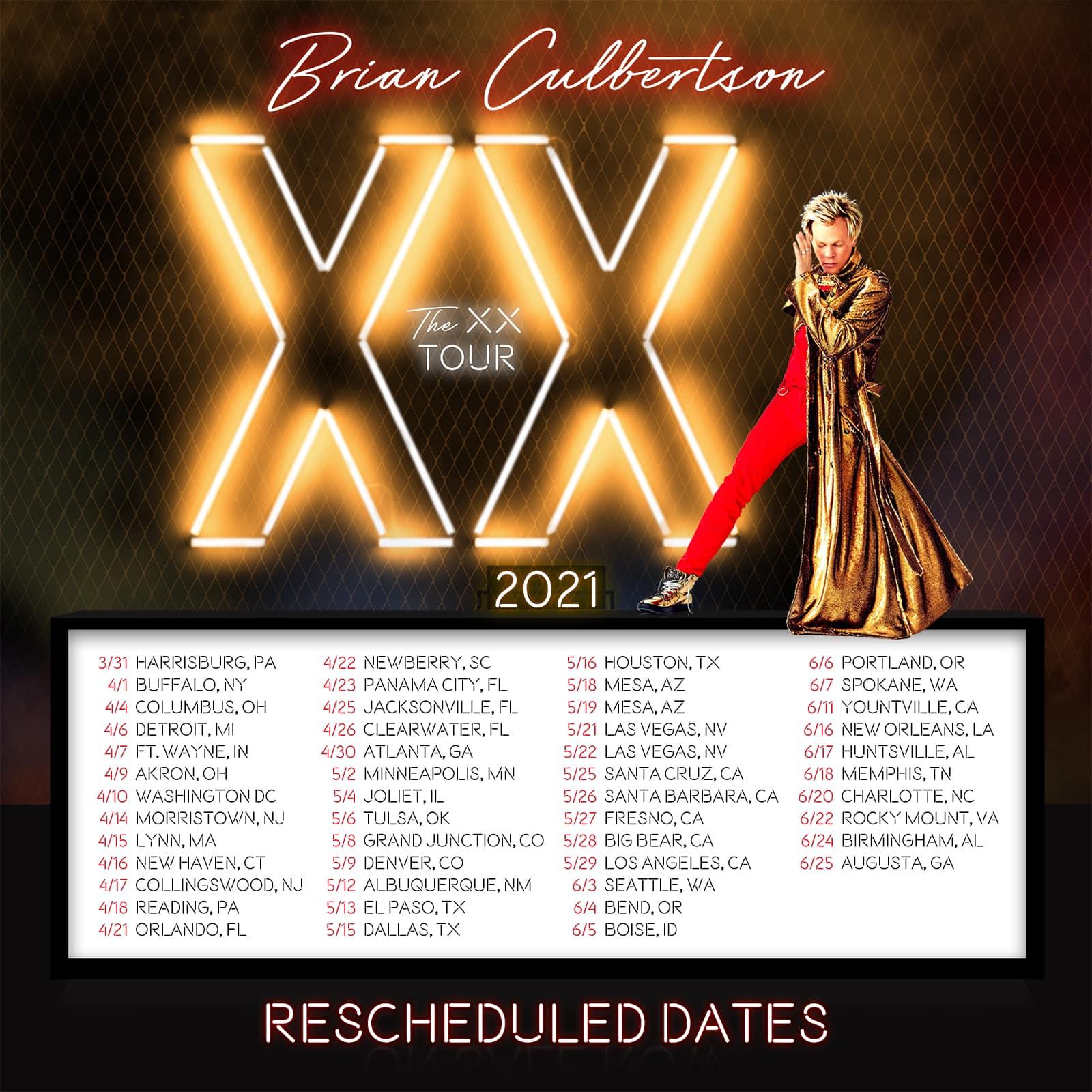 Brian Culbertson XX Tour Dates 2021