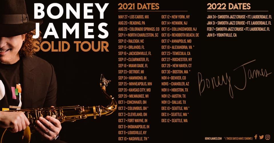 Boney James Solid Tour 2021