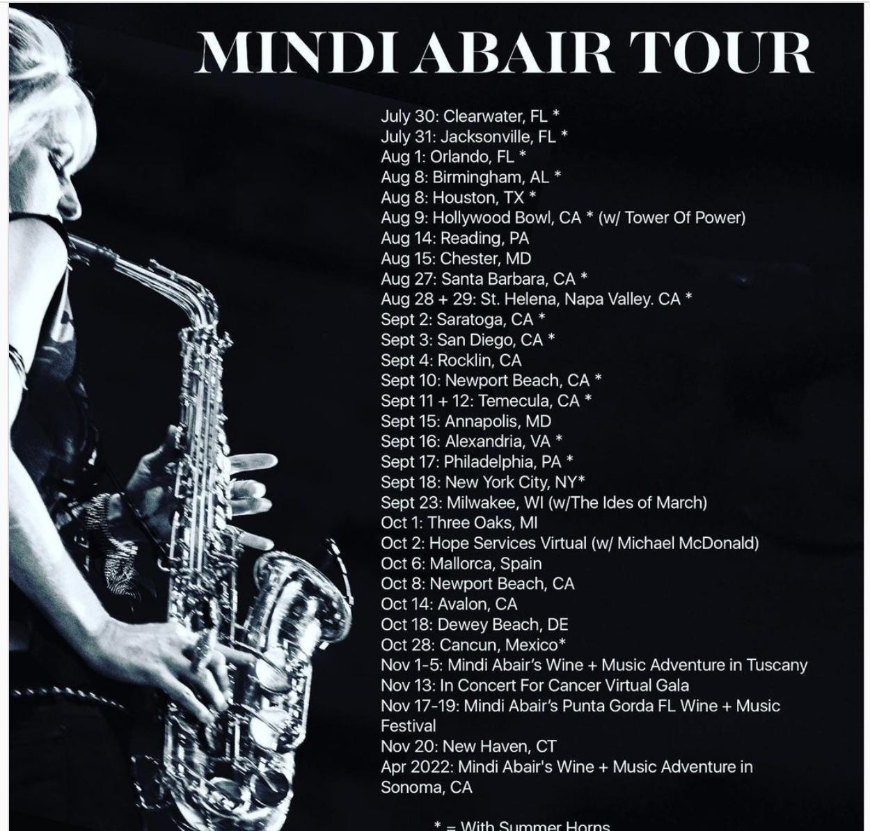 Mindi Abair Tour Dates 2021